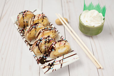 cookie dough catering sushi roll